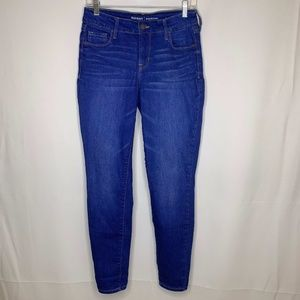 Old Navy Rock Star Mid Rise Medium Wash Blue Jeans